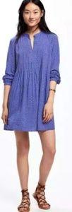 NWOT Old Navy Royal Blue Pintuck Swing Dress XXL